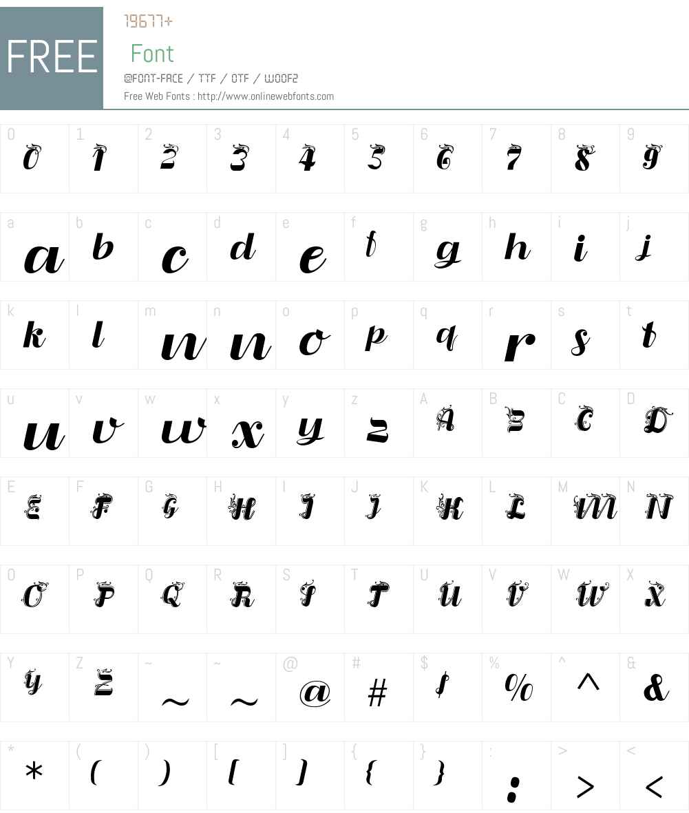 LiquoiaW01-BRegular Font Screenshots
