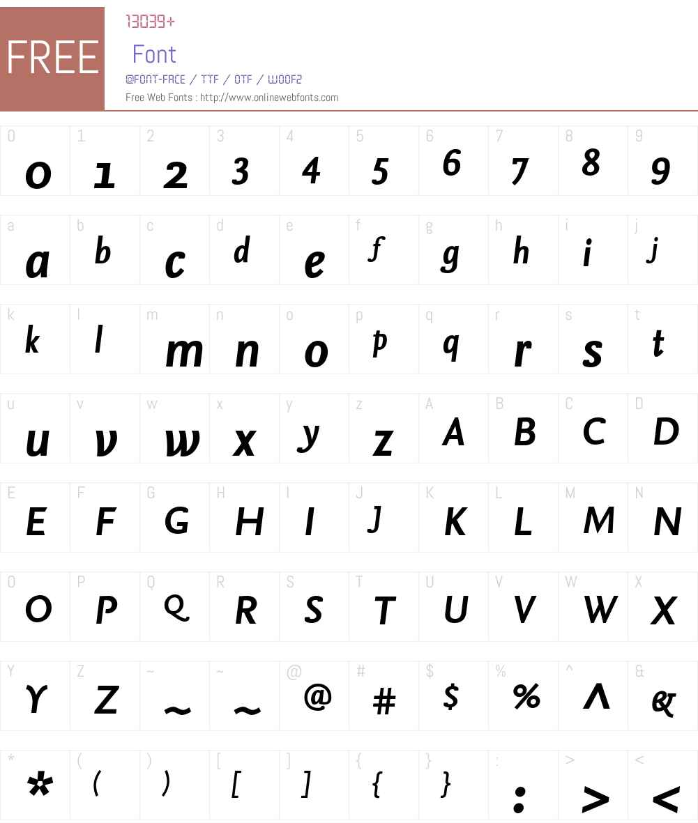 NexusSans-BoldItalic Font Screenshots