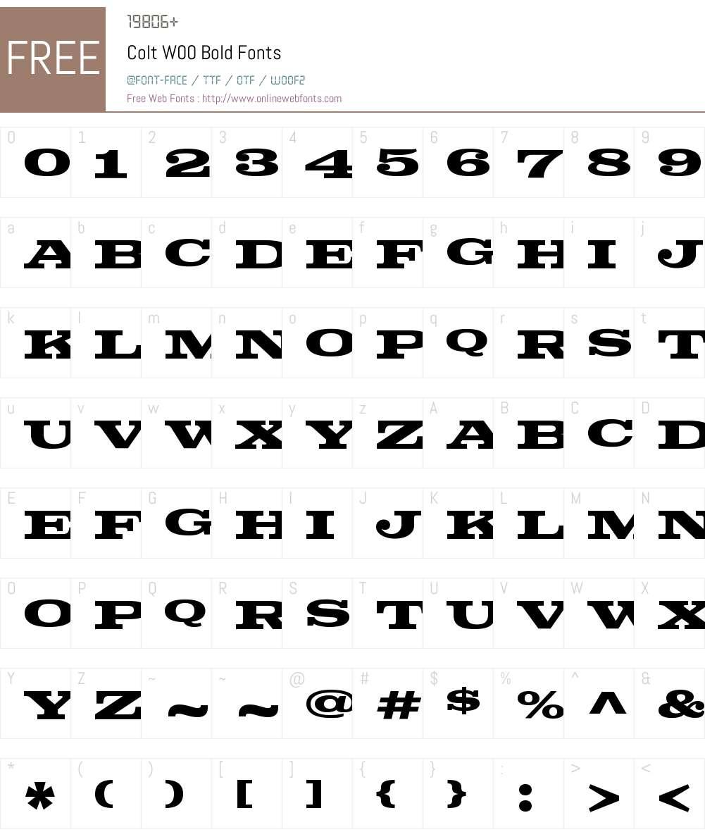 ColtW00-Bold Font Screenshots