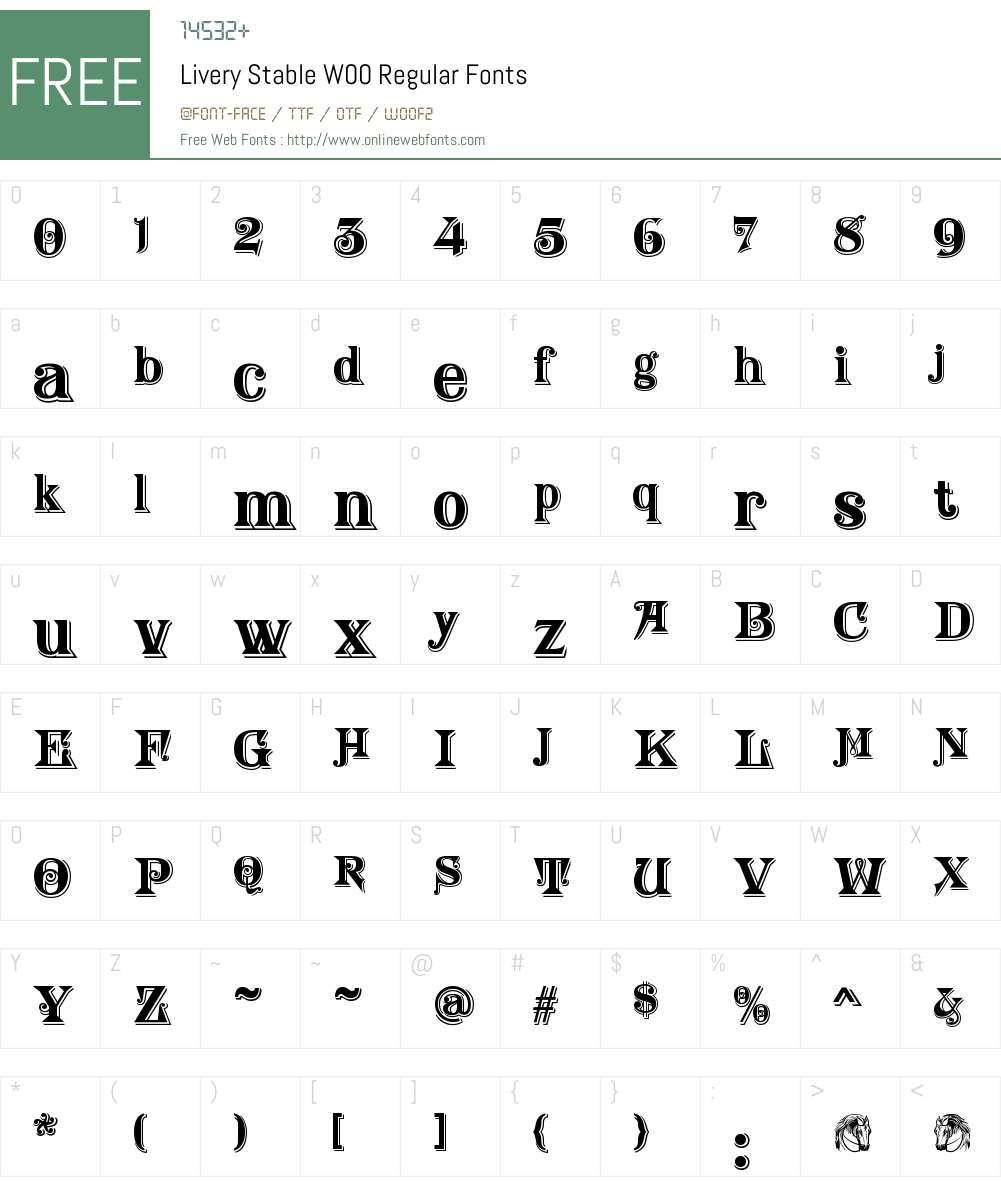LiveryStableW00-Regular Font Screenshots