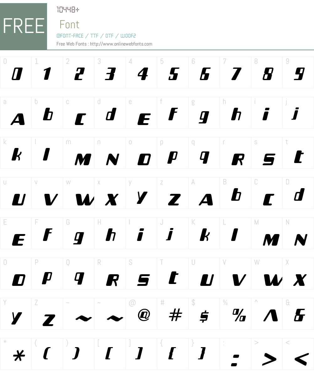 BommiCarbonW01-Regular Font Screenshots
