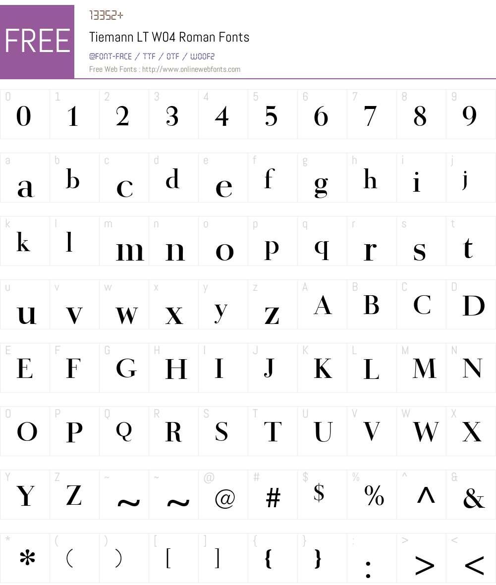 Tiemann Font Screenshots