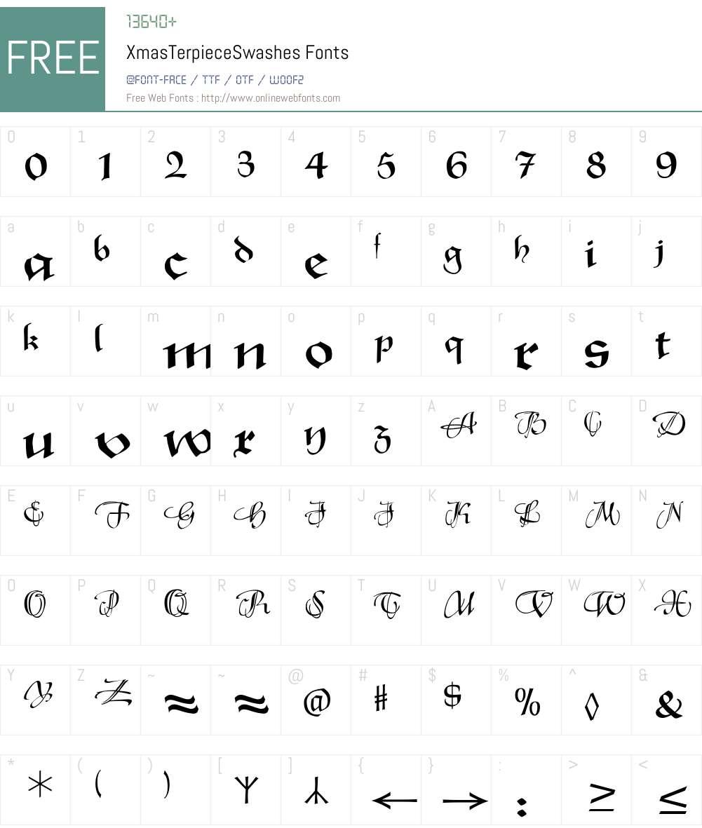 XmasTerpiece Font Screenshots