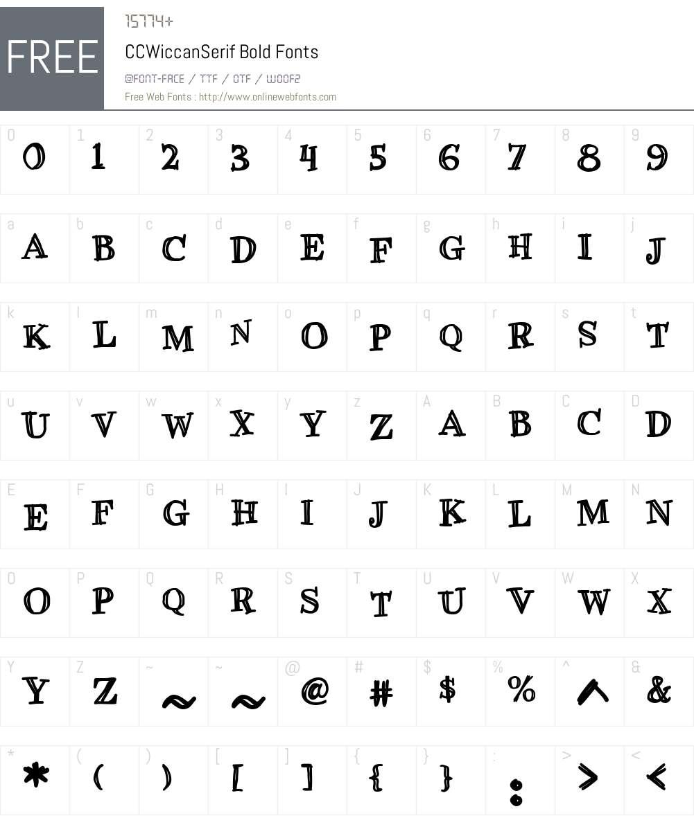 CCWiccanSerif-Bold Font Screenshots