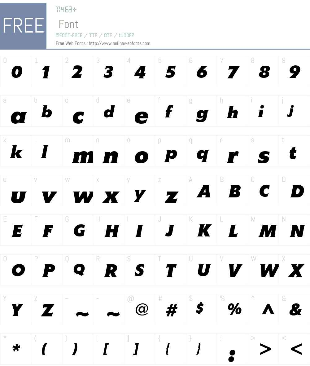MemoW01-BoldItallic Font Screenshots
