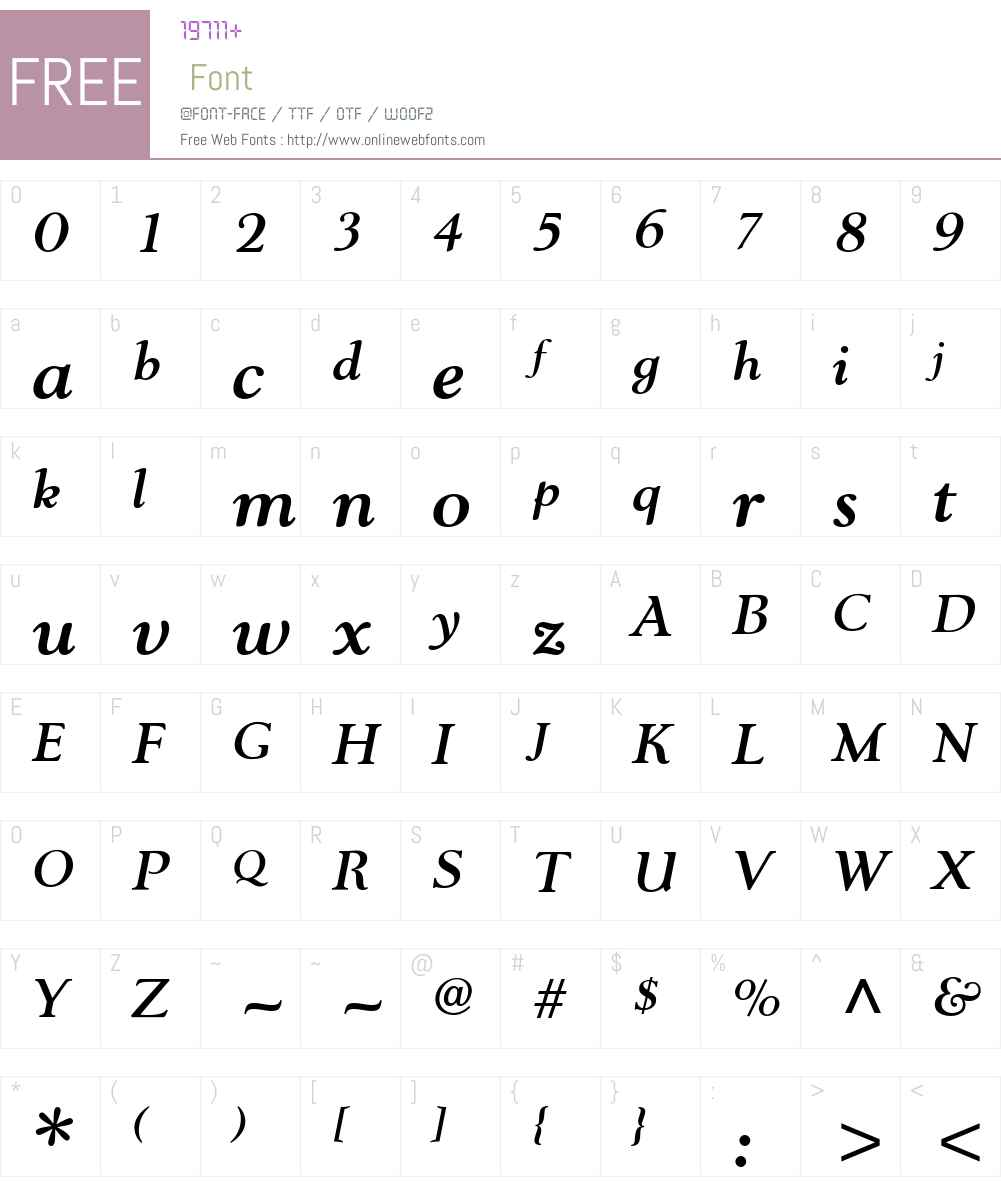 Nevia BT Font Screenshots