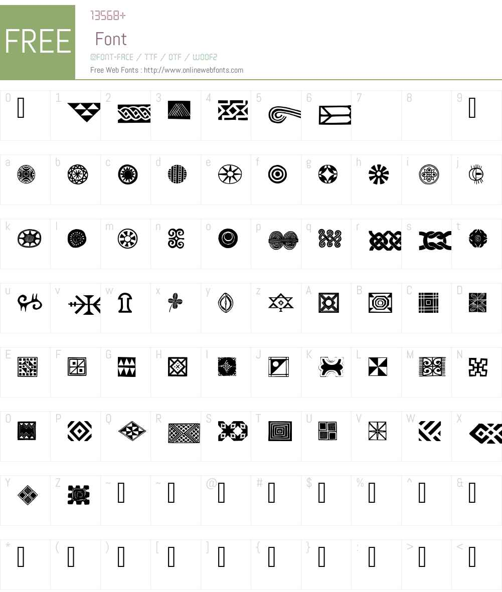 African Ornaments One Font Screenshots