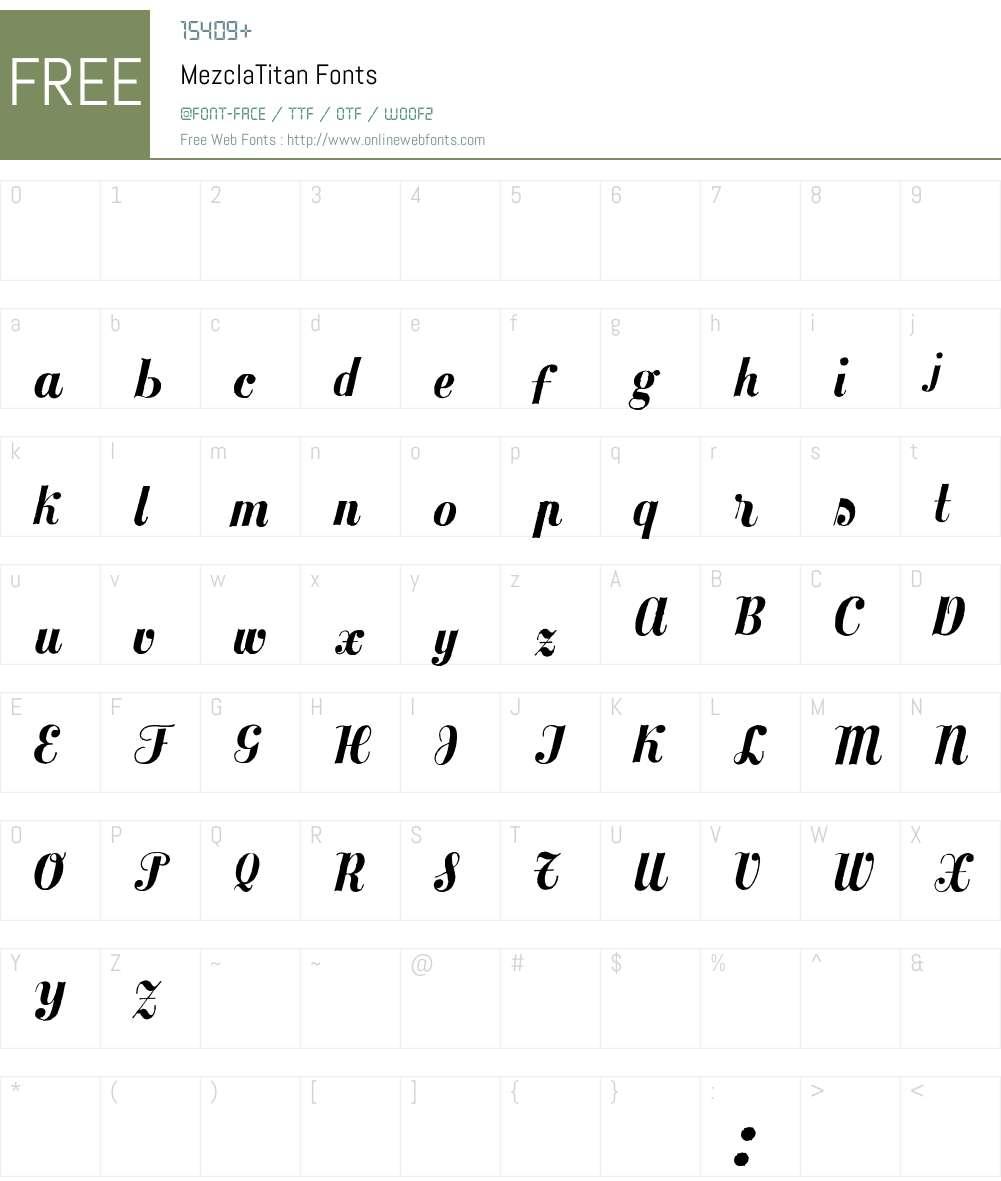 MezclaTitan Font Screenshots