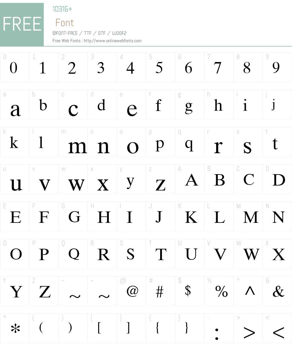 TimesTenW15-Upright Font Screenshots