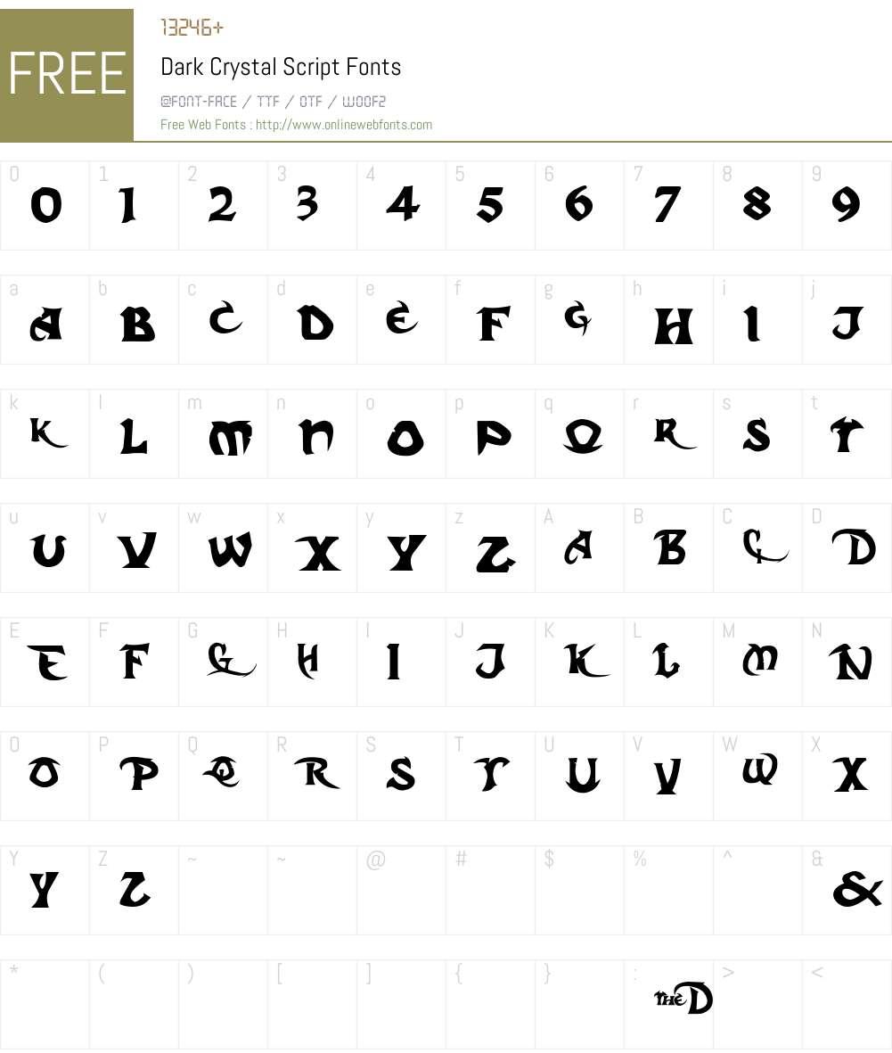 Regular Font Screenshots