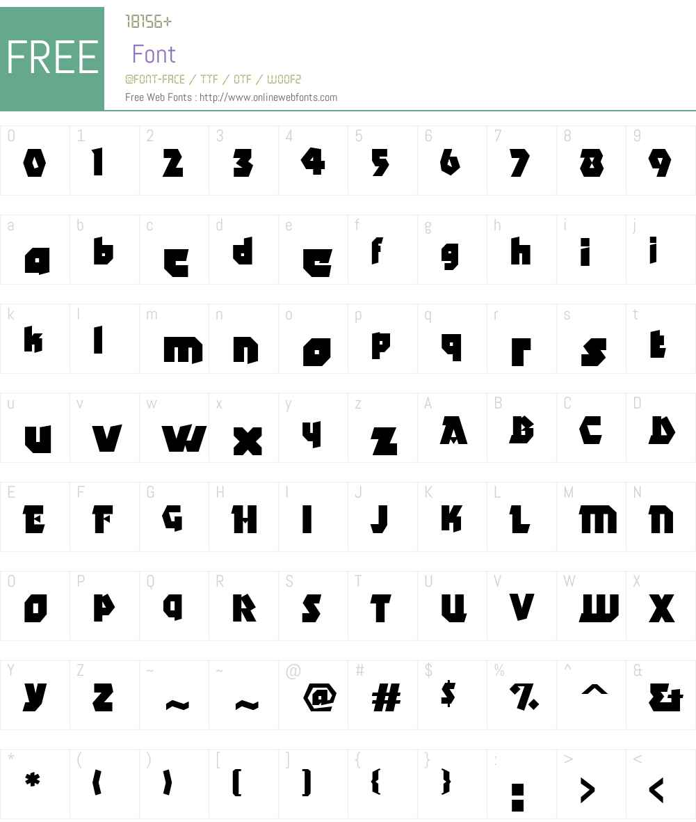 AngleW01-Bold Font Screenshots
