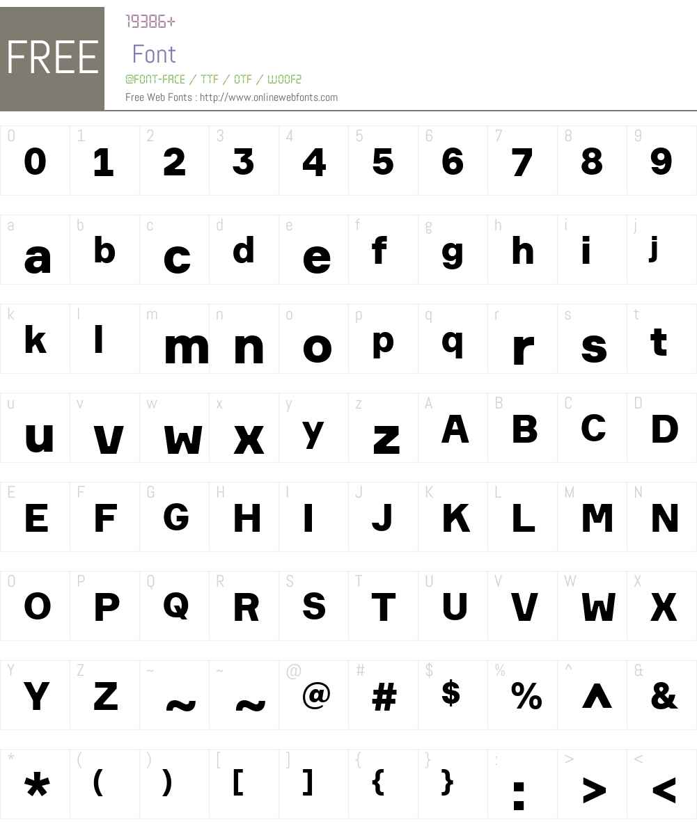 Formular Font Screenshots