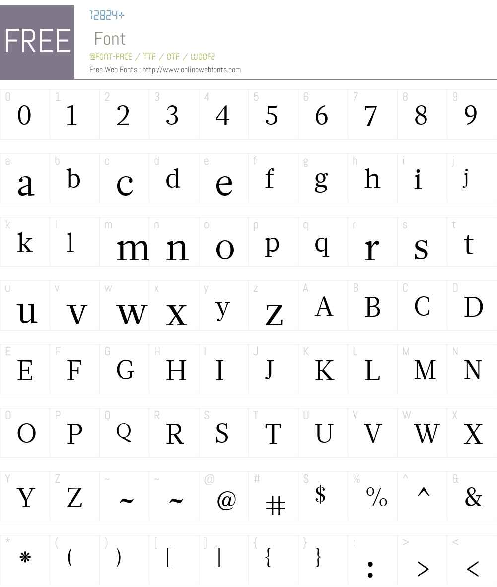 GlosaW01-Roman Font Screenshots
