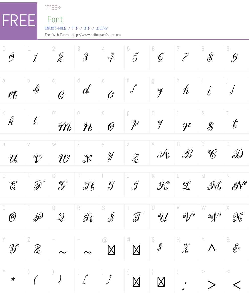 MargueritaW00 Font Screenshots