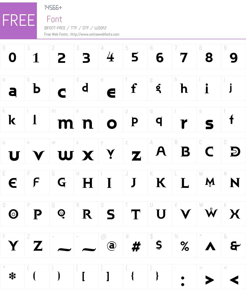 BublikW01-Bold Font Screenshots
