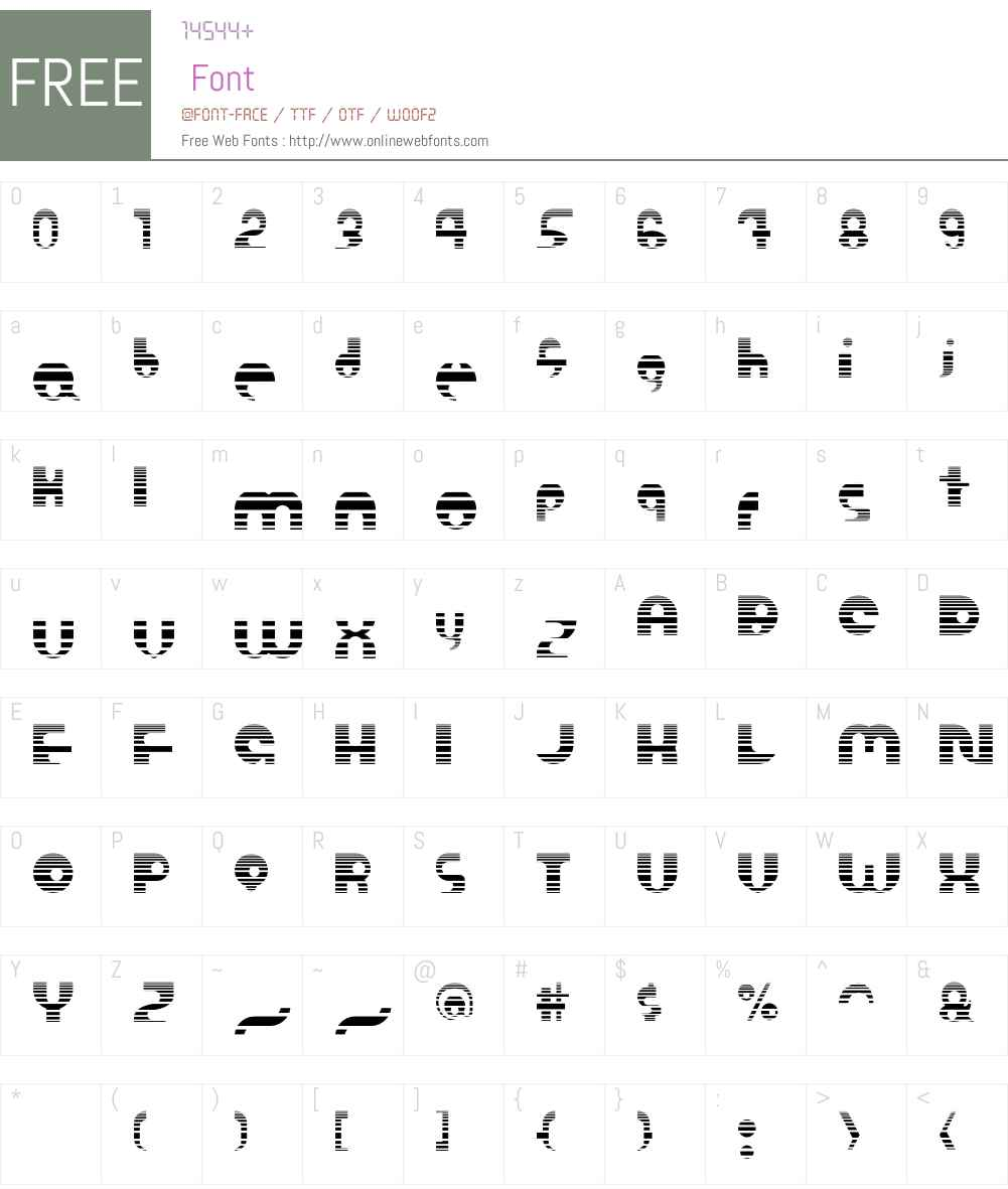 Ombre Font Screenshots