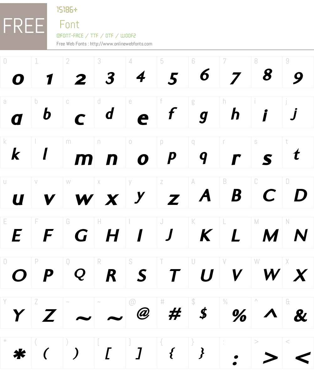 ElaSansW01-BlackItalic Font Screenshots