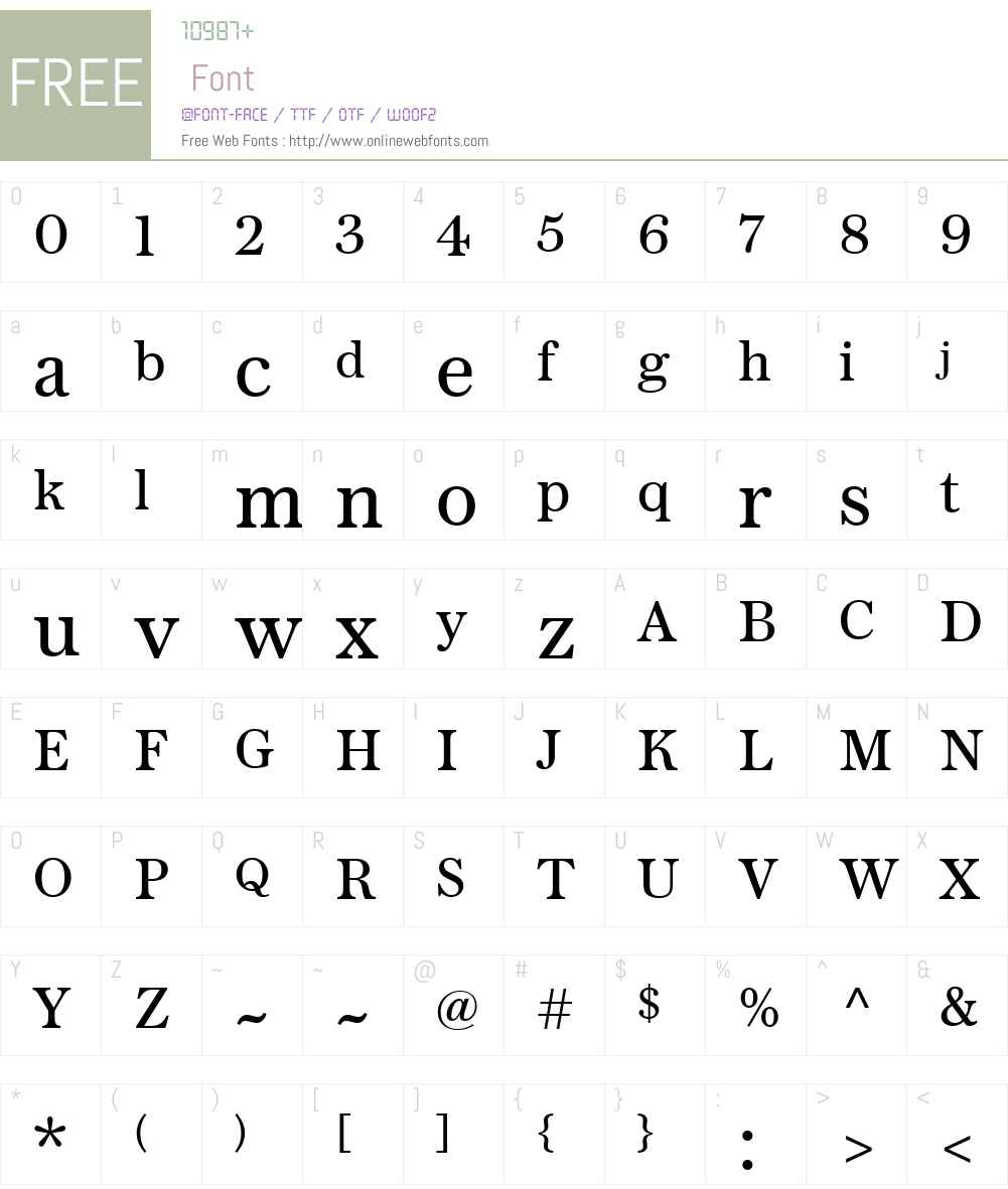 Austin News Text Web Roman Font Screenshots