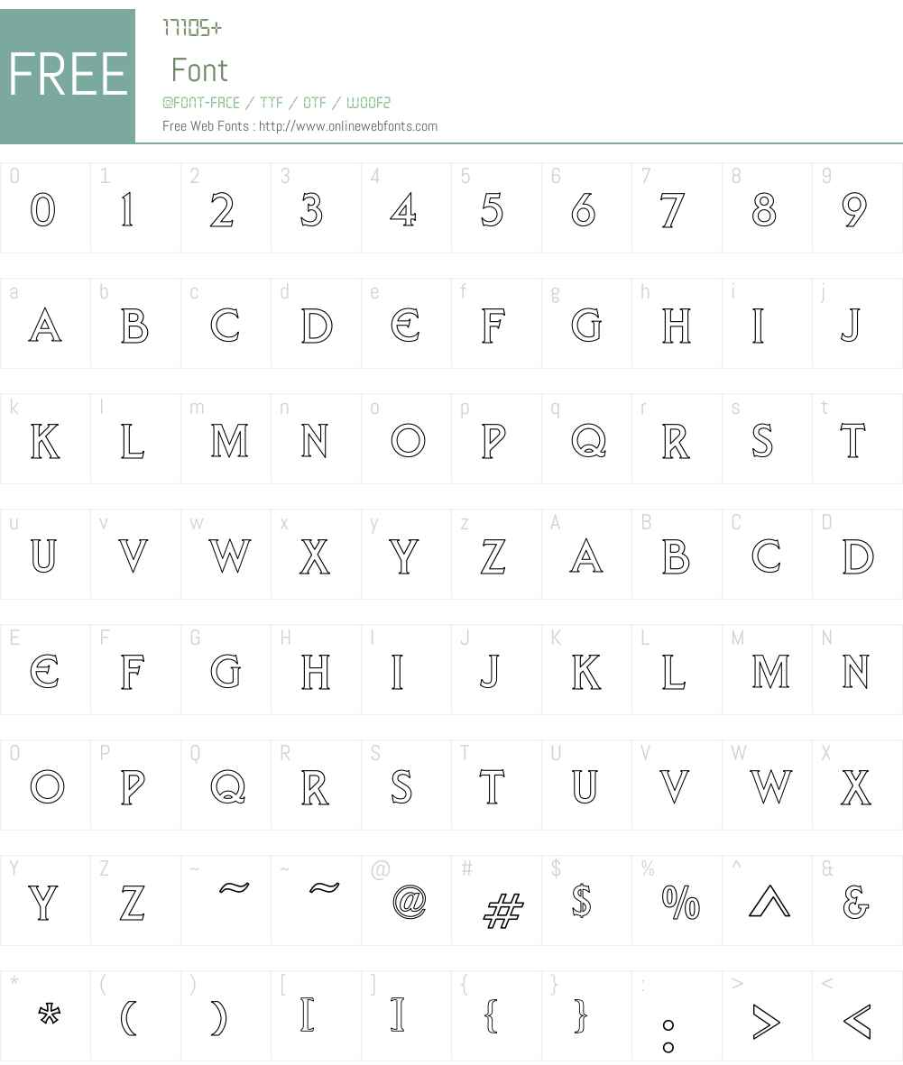 Arnelle Hollow Font Screenshots