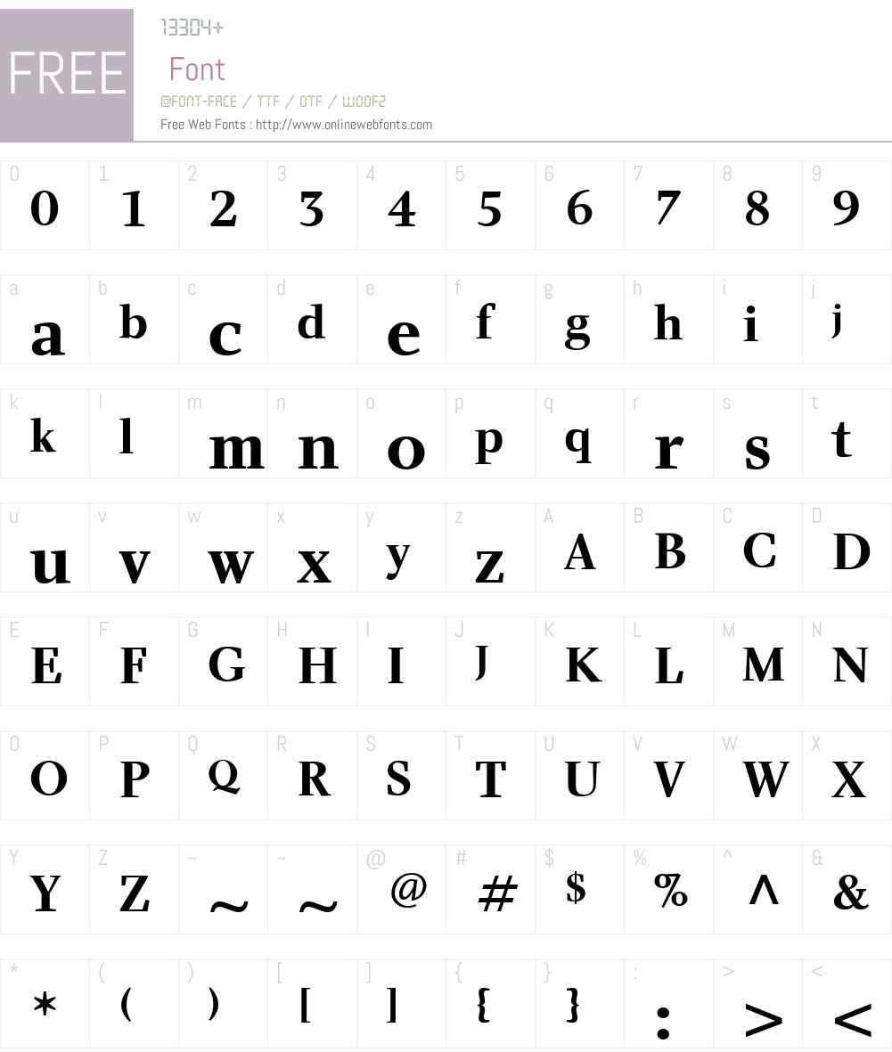 CharlotteW01-Bold Font Screenshots