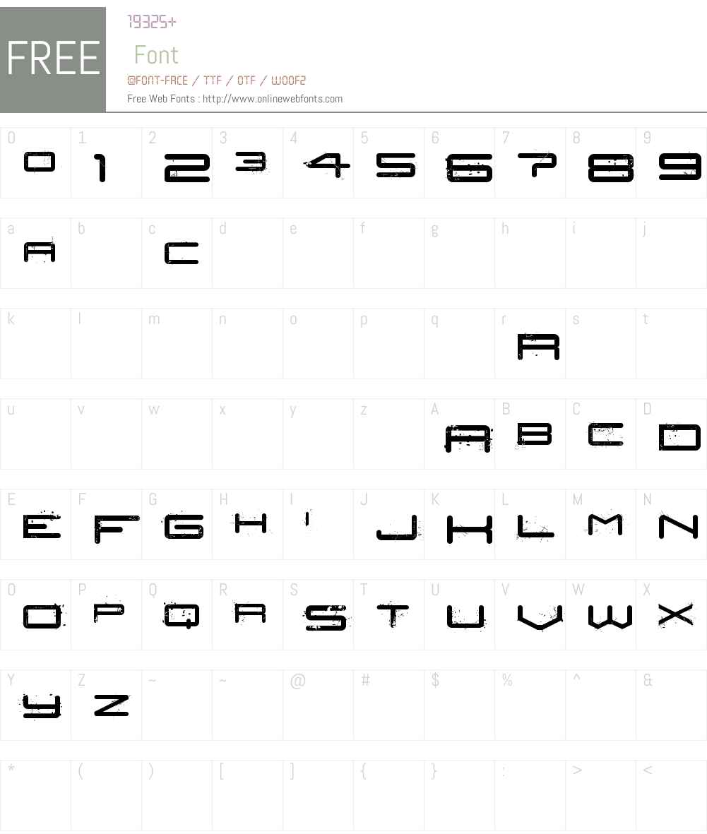 Car Crash Font Screenshots