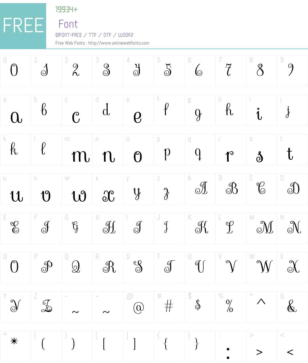 Sevillana Font Screenshots