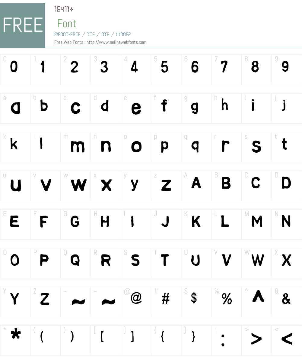 AZTextW00-Regular Font Screenshots