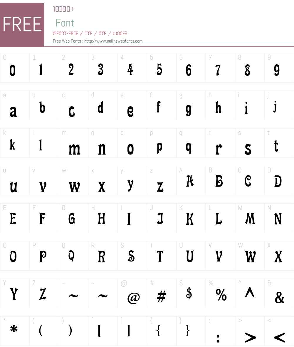 Fette Mikado Font Screenshots