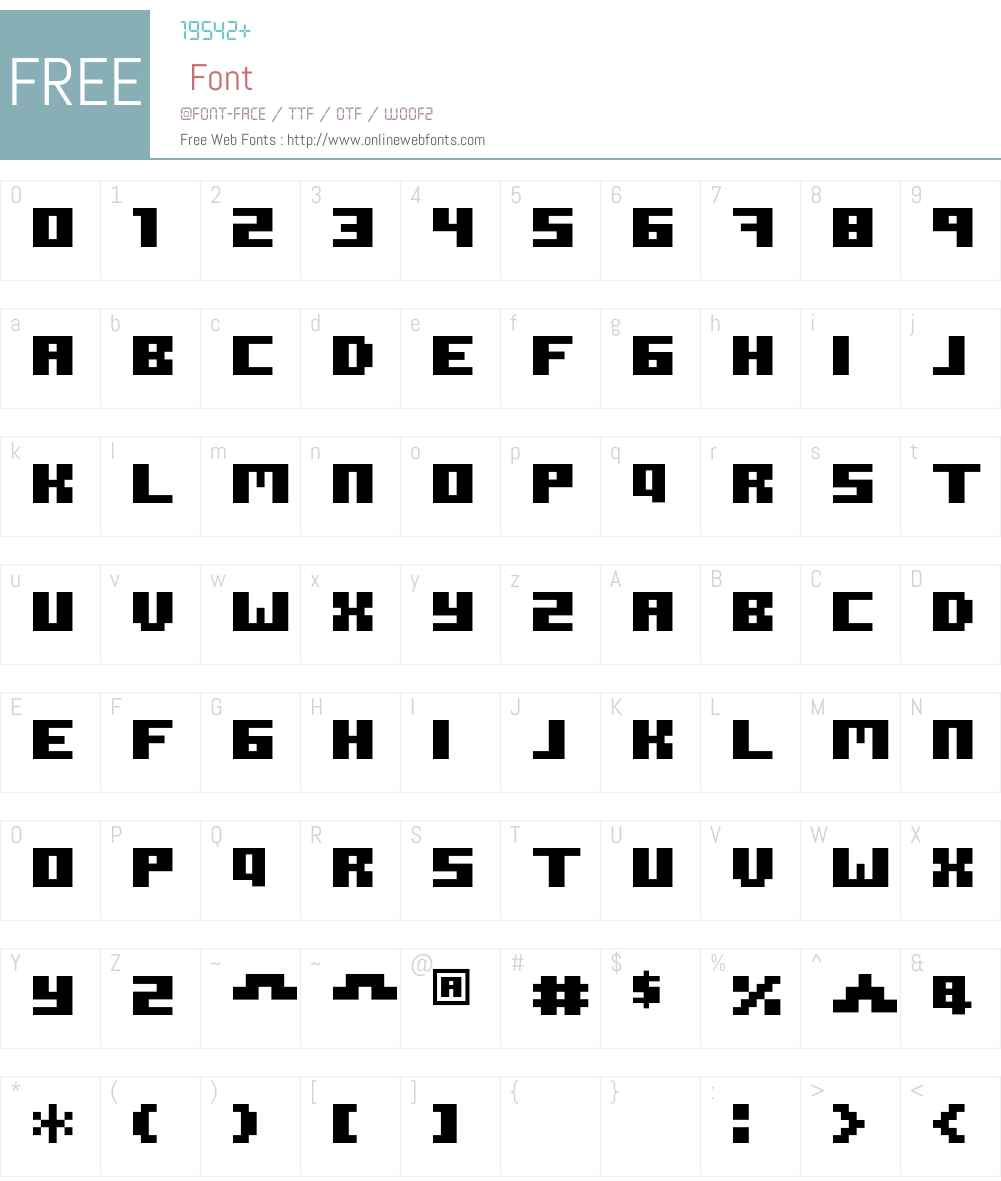 ROTORkeff Font Screenshots