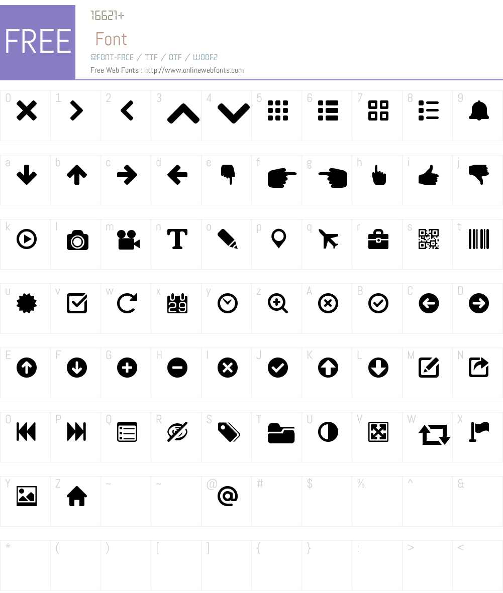 WebHostingHub-Essentials Font Screenshots