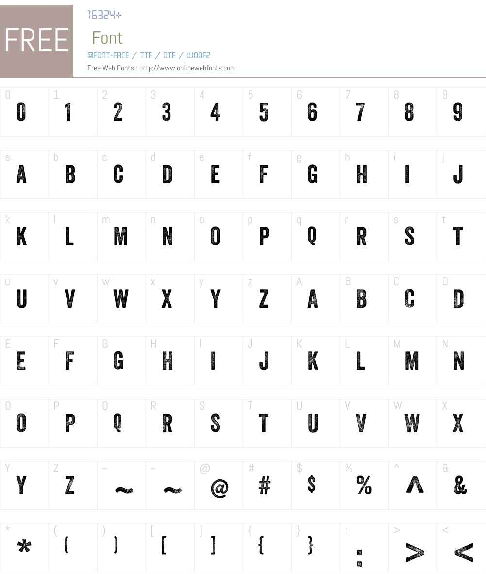 VeneerW01-Two Font Screenshots