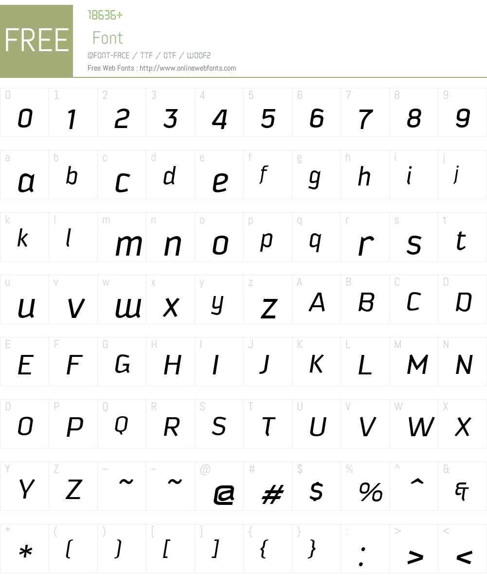KautivaW01-Italic Font Screenshots