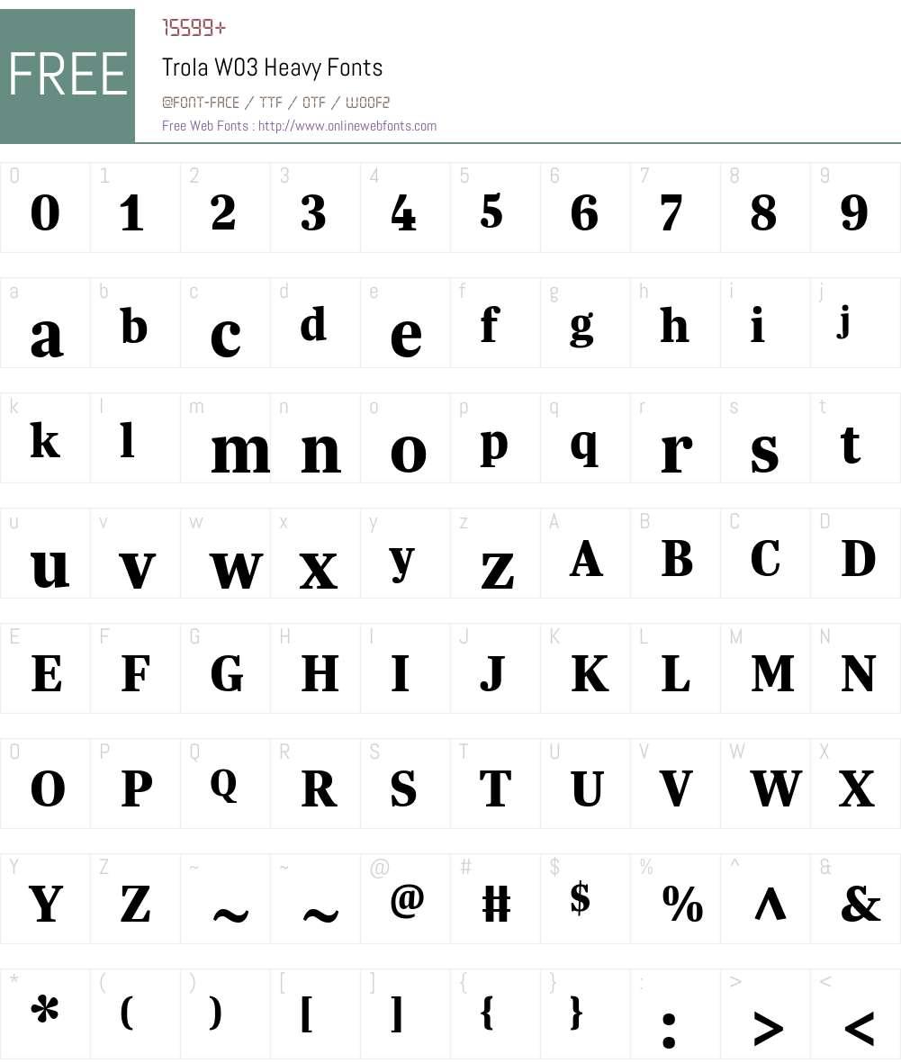 Trola Font Screenshots