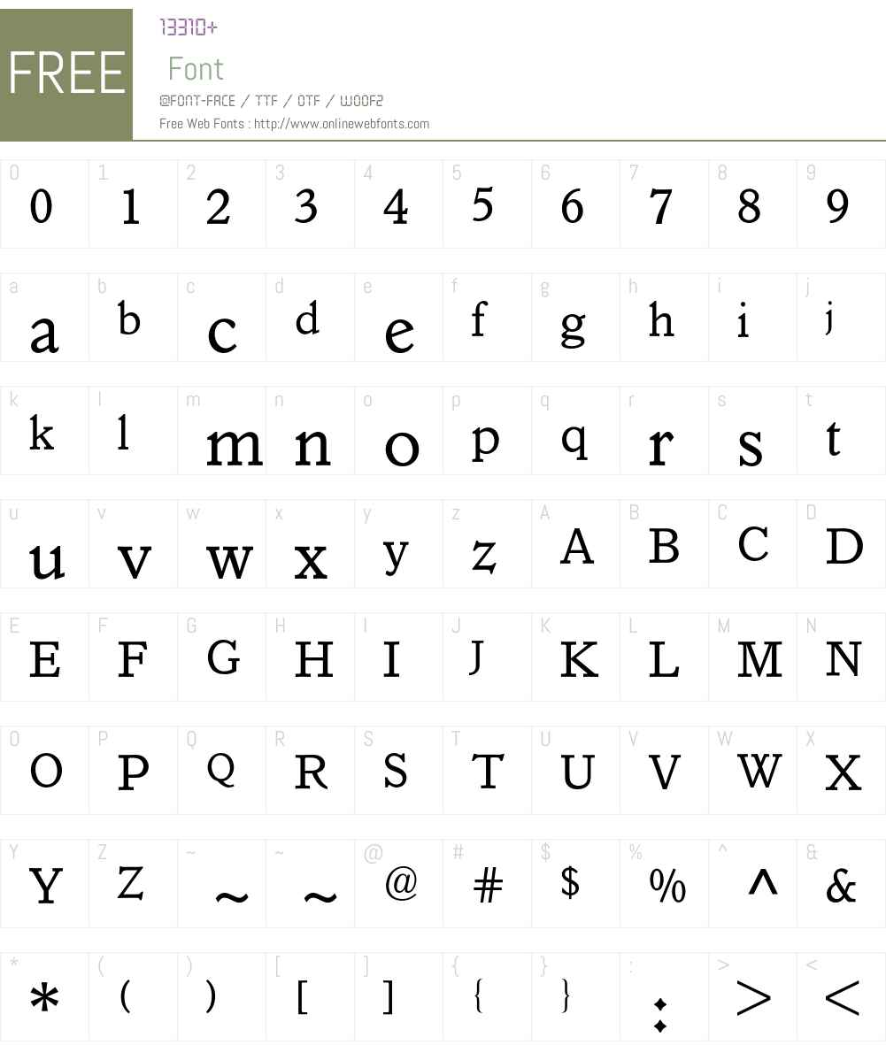 Italian Old Style BQ Font Screenshots