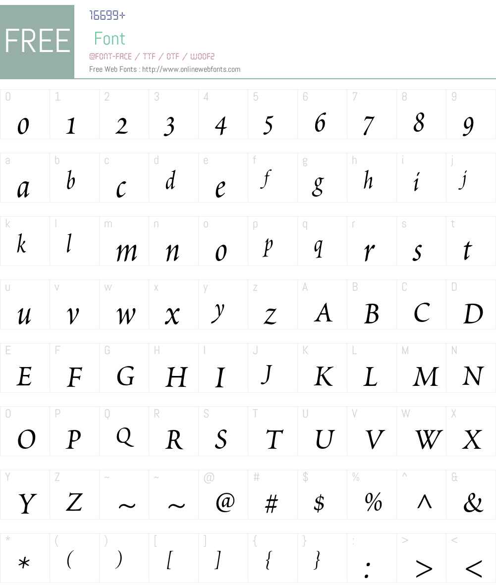 Poetica Std Font Screenshots