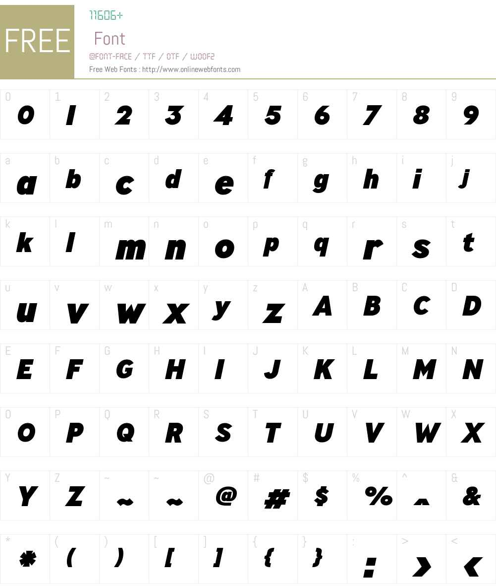 MinistryW00-HeavyItalic Font Screenshots
