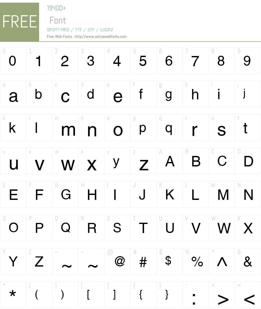 Helvetica LT Font Screenshots