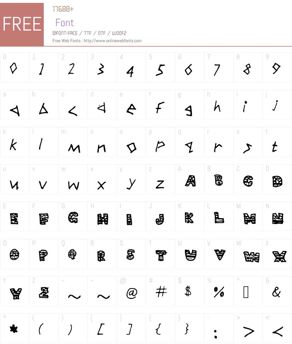 Aztec Font Screenshots