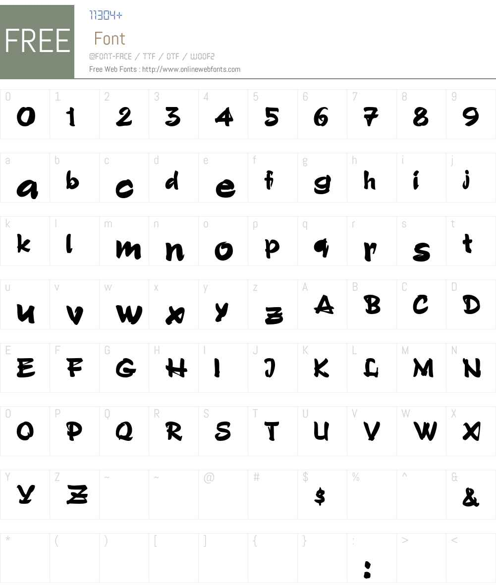 GrunionScript Font Screenshots