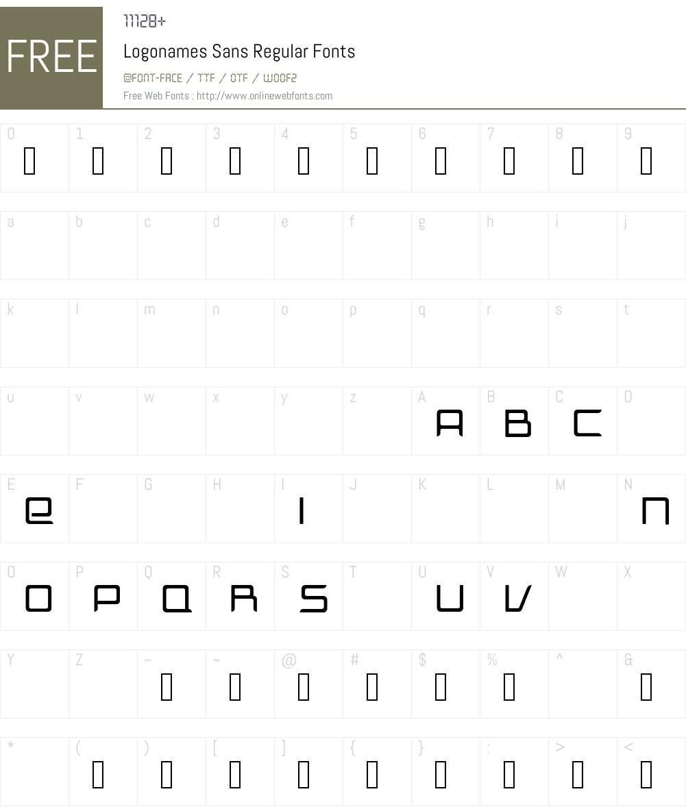Logonames Sans Font Screenshots