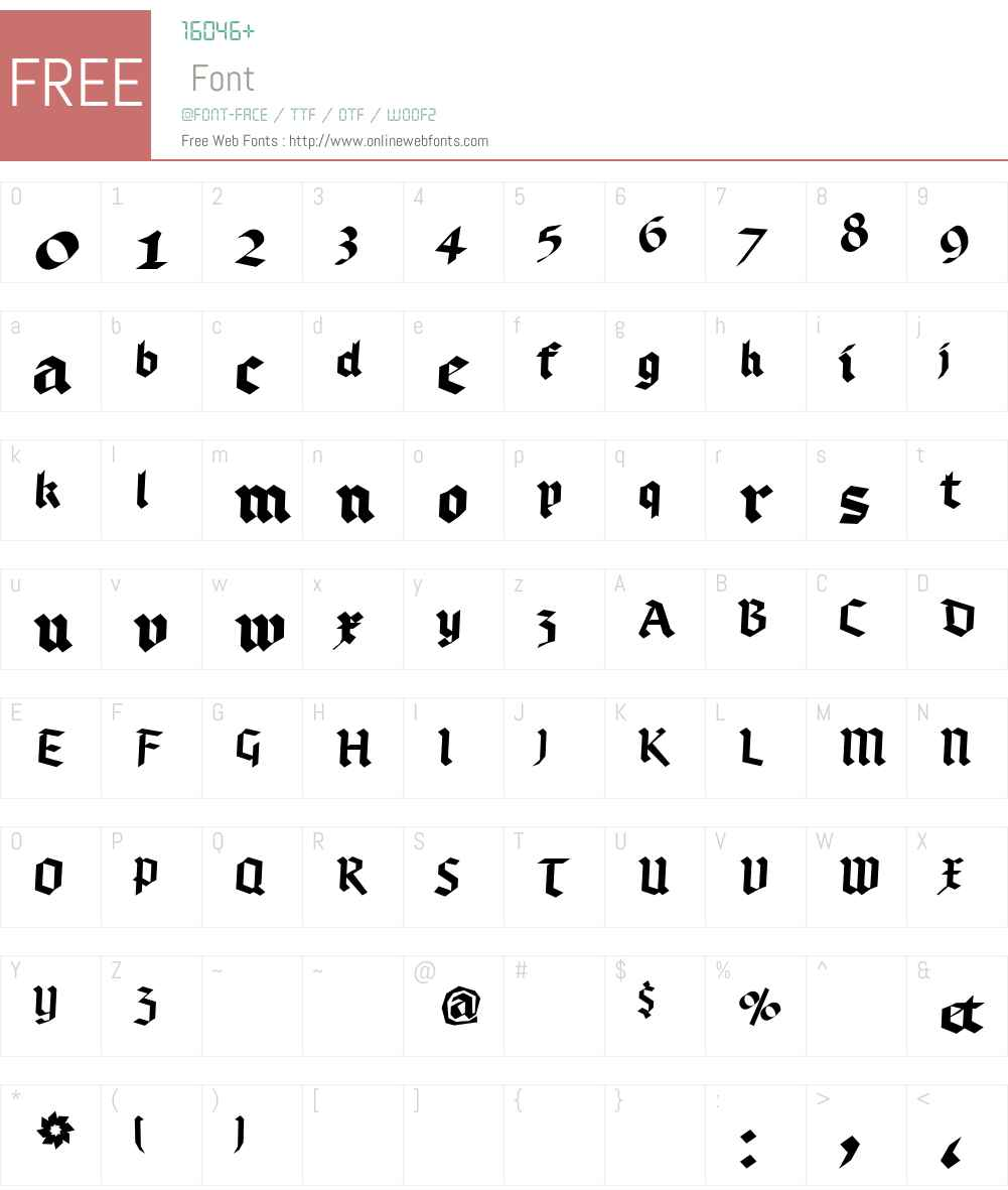 Bruchschrift Font Screenshots