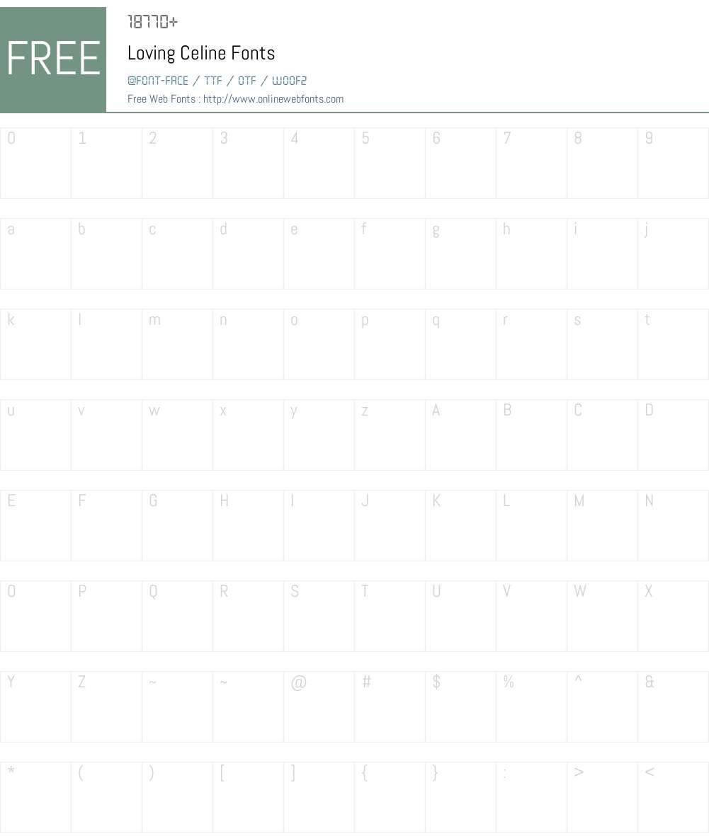 Loving Celine Font Screenshots