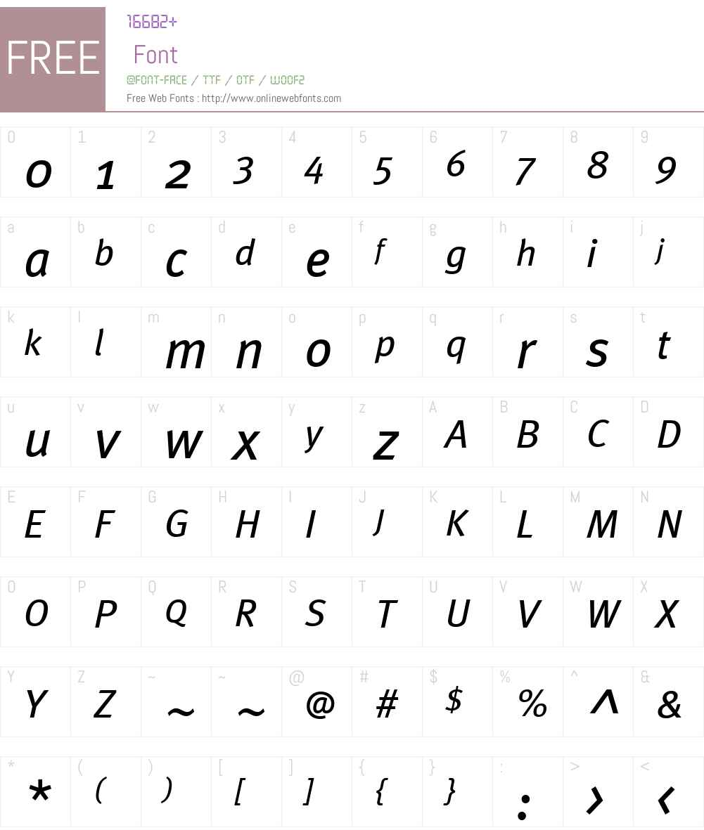 MetaWebW01-BookIta Font Screenshots