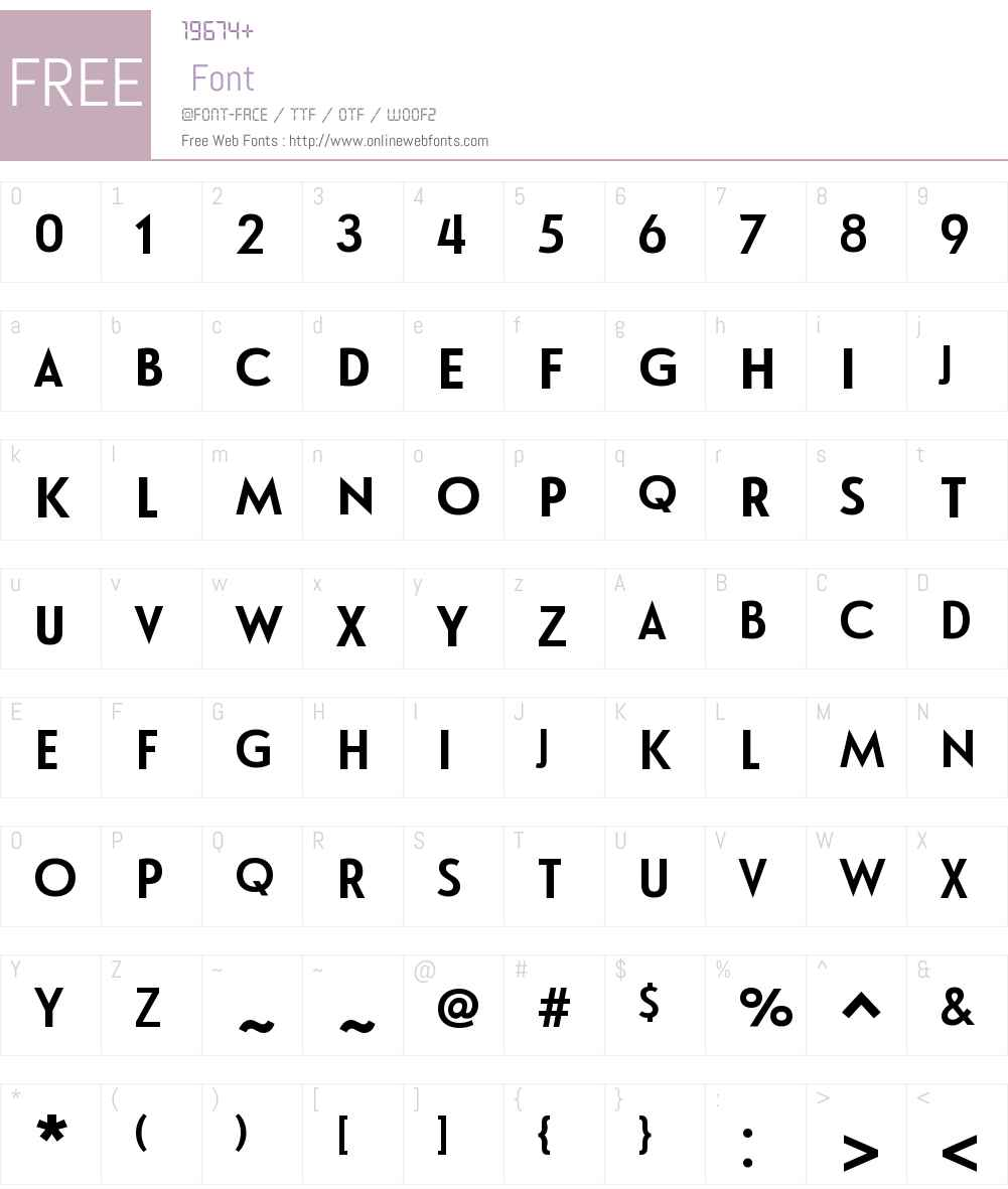 LeHavreTitlingW01-Bold Font Screenshots