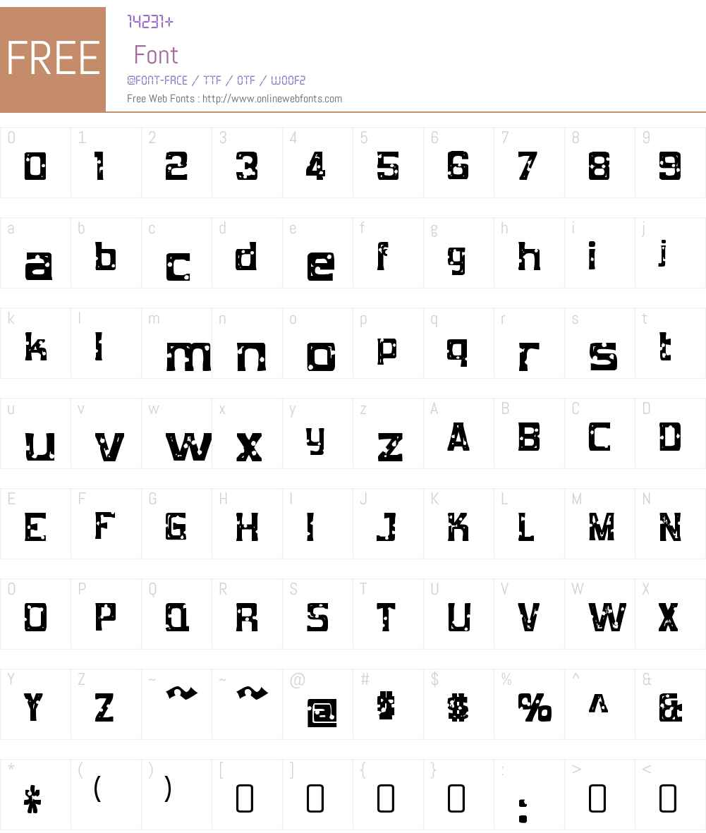 Mob Concrete Font Screenshots