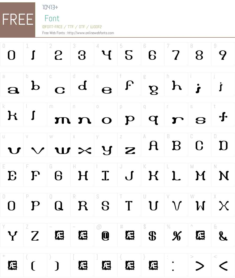 Draggle BRK Font Screenshots