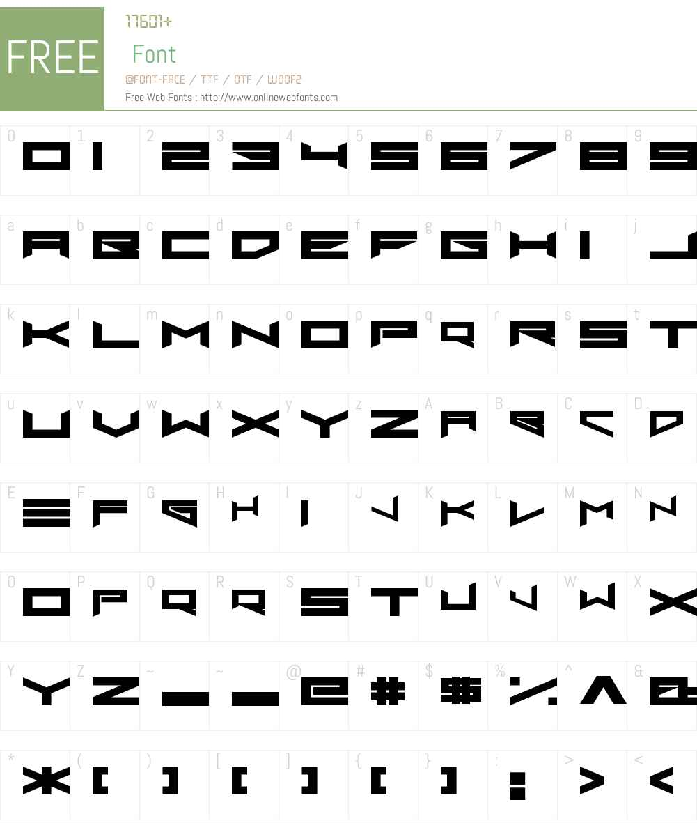 Xero's Proof Font Screenshots