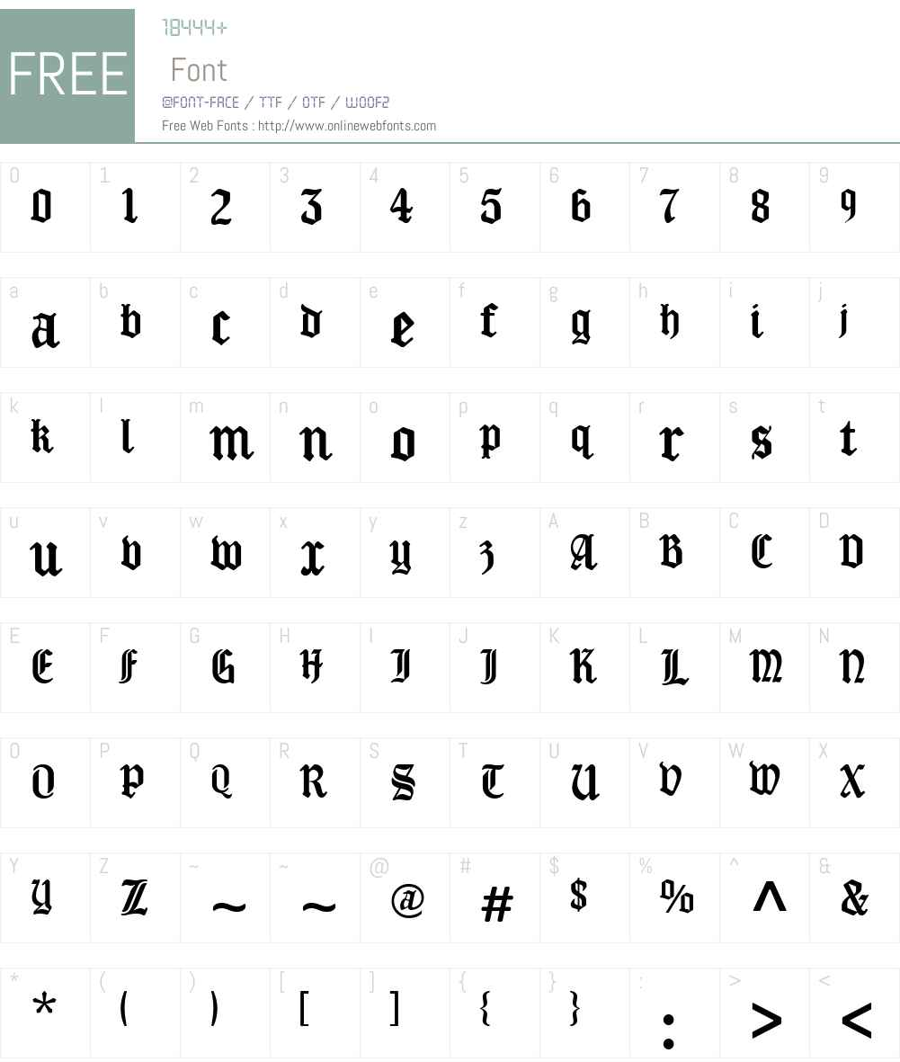 New Old English Font Screenshots