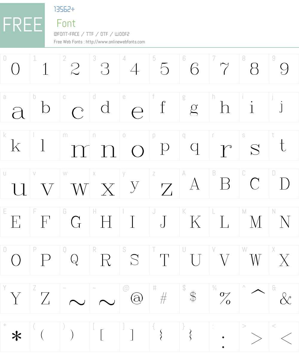 RomanC Font Screenshots