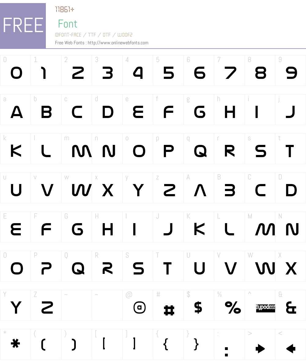 Nasalization Free Font Screenshots